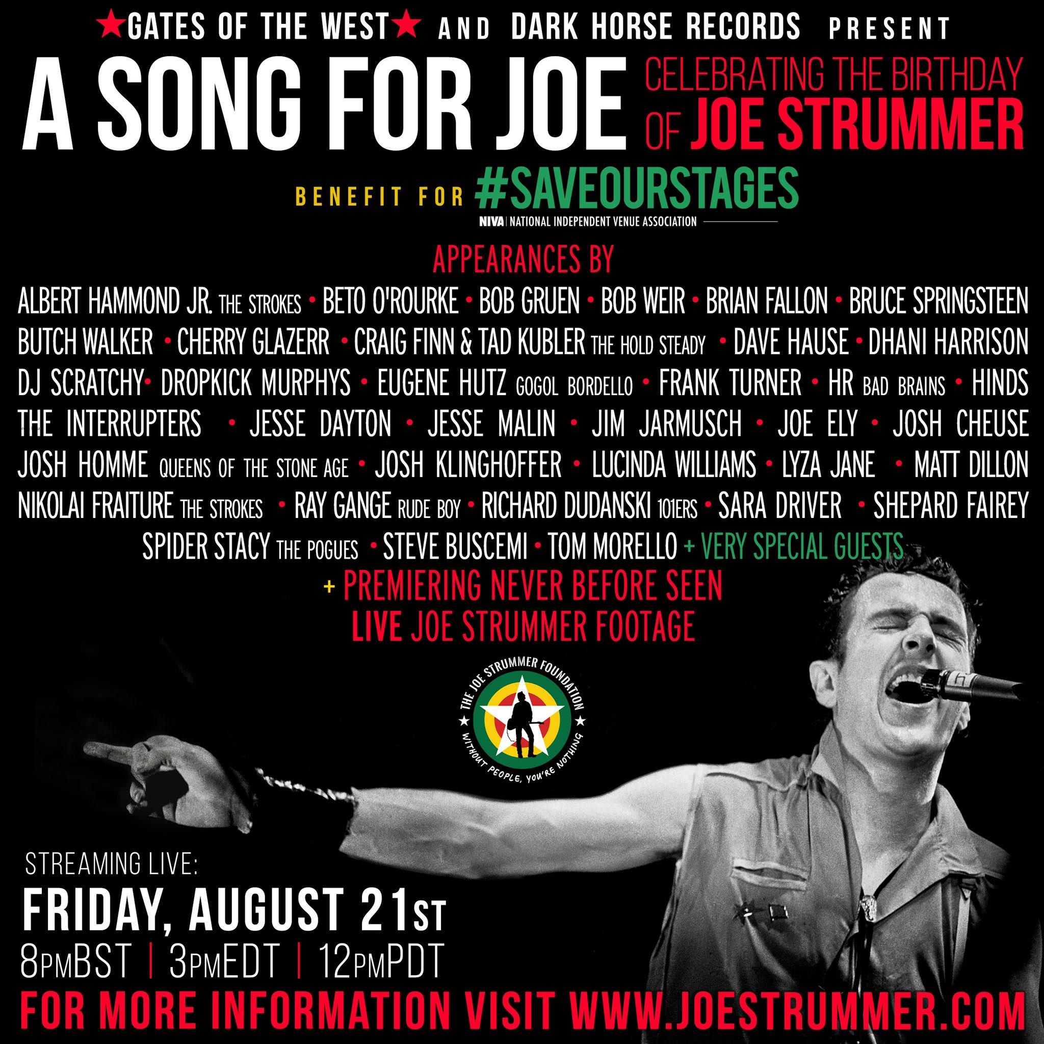 Ένα τραγούδι για τον Joe Strummer μας φέρνει πάντα πιο κοντά