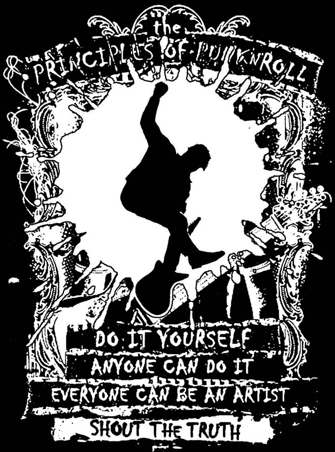 T-shirt Principles Of Punk'n'Roll